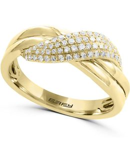 14k Yellow Gold Twist Ring With 0.26tcw Diamonds