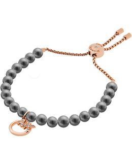 Pearls Pendant Slider Bracelet
