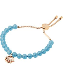 Crystal New Pave Beaded Charm Slider Bracelet
