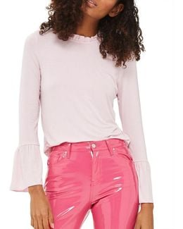 Petite Frill Long-sleeved Top