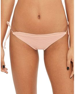 Frill Ribbed Tieside Swim Bottoms