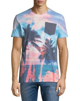 California Photo Graphic Pocket Tee