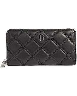 Double J Quilted Leather Wallet