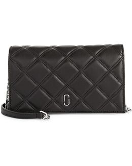 Double J Quilted Leather Wallet Bag