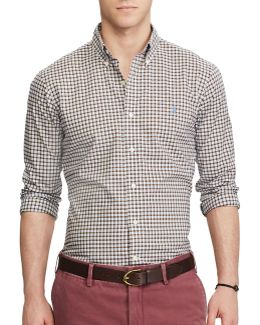 Classic Fit Plaid Cotton Casual Button-down Shirt