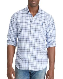 Big And Tall Classic-fit Checked Oxford Shirt