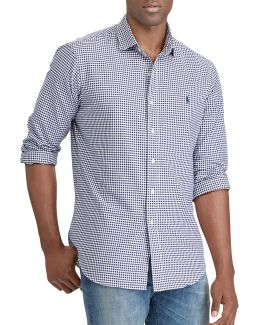 Big And Tall Classic-fit Gingham Oxford Shirt