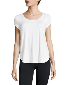 Strappy-back Wicking Mesh Tee