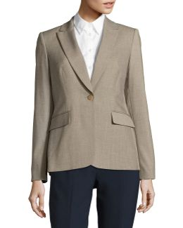 One-button Peak Lapel Blazer