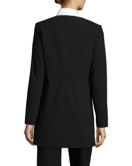Long Lux Zip Front Jacket