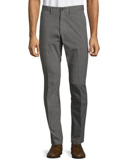 Slim-fit Glen Plaid Pants