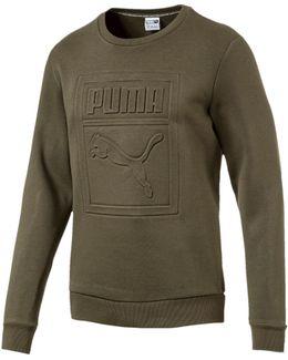 Archive Embossed Crew Sweater