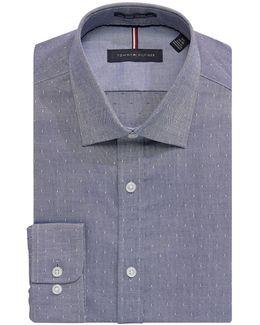 Slim-fit Non-iron Dot Dress Shirt