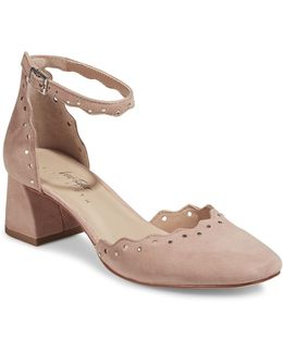 Brandi Embellished Suede Heels