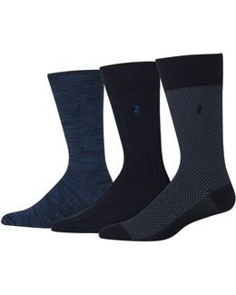 Three-pack Supersoft Birdseye Socks Set