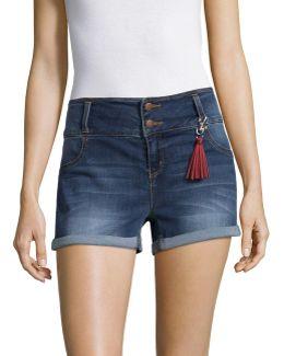 Clean Cuff Denim Shorts