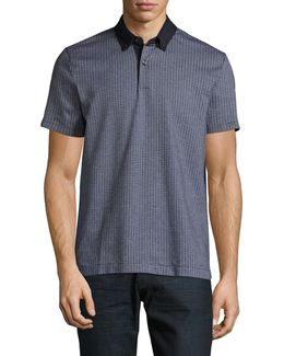 Kingsley Geo-knit Polo