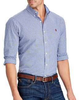 Big And Tall Classic-fit Gingham Cotton Shirt