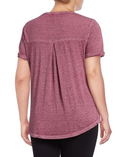 Plus Burnout V-neck Pocket T-shirt