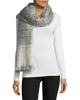Boucle Textured Check Scarfs