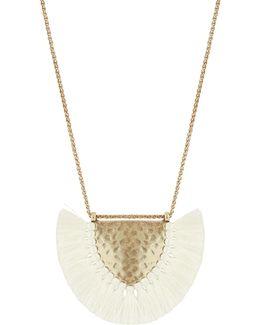 Coral Tribes Semi-precious Fringe Necklace