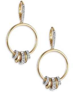 Spindle Hoop Drop Earrings