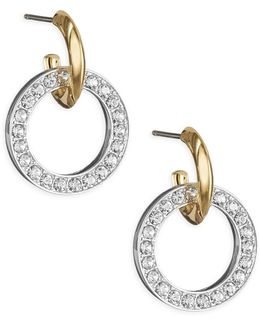 Pave Door Knocker Earrings