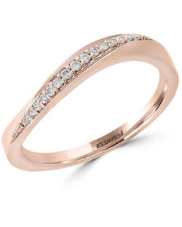 14k Rose Gold Ring With 0.08 Tcw Diamonds