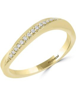 14k Yellow Gold Ring With 0.08 Tcw Diamonds