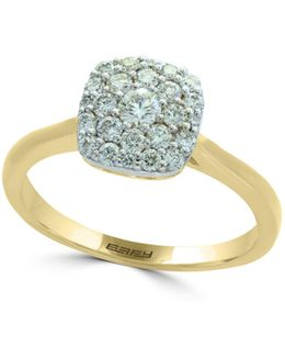 14k Yellow Gold And 14k White Gold Ring With 0.49 Tcw Diamonds