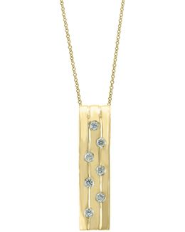 Diamond, 14k Yellow Gold & 14k Gold Pendant Necklace