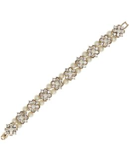 Faux Pearl Pendant Bracelet