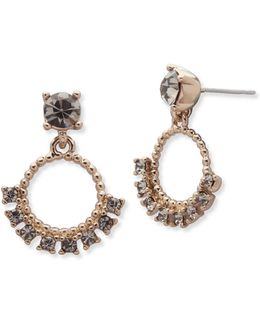 Studded Orbital Drop Earrings