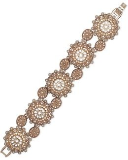 Faux Pearl Flex Bracelet