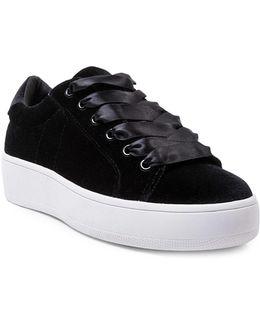 Bertie Velvet Platform Sneakers