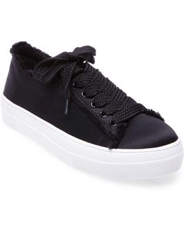 Greyla Satin Lace-up Sneakers