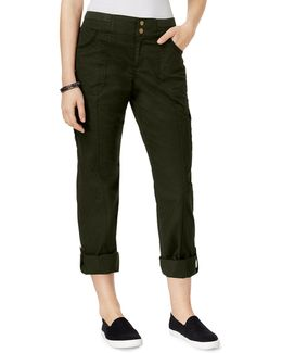 Mid-rise Convertible Cargo Pants