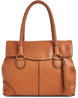 Leather Saddle Tote Bag