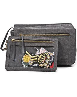 Bfarrah Iron-on Patches Denim Shoulder Bag