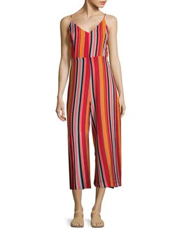 Mixed Stripe Strappy Jumpsuit