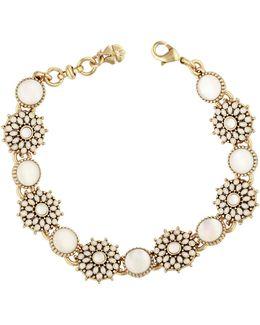Crystal & Mother-of-pearl Link Bracelet