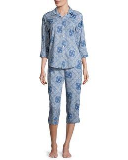 His Shirt Capri Two-piece Pyjama Set