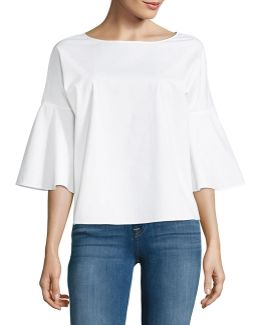 Flared Three-quarter Sleeve Top