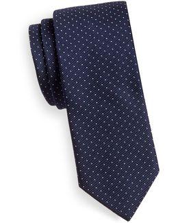Silk Pin Dot Tie