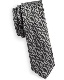 Silk River Print Tie