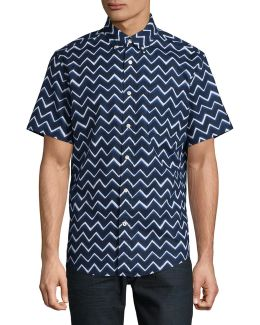 Custom Fit Allover Chevron Shirt