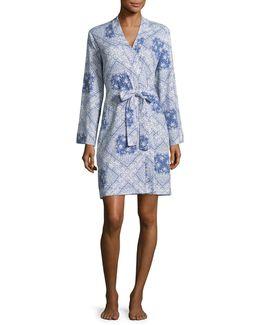Tile Print Kimono Robe