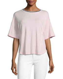 Stripe Trim T-shirt