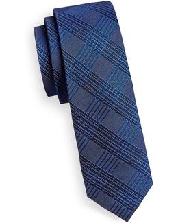 Silk-blend Grid Tie