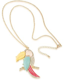 Sun Daze Parrot Pendant Necklace